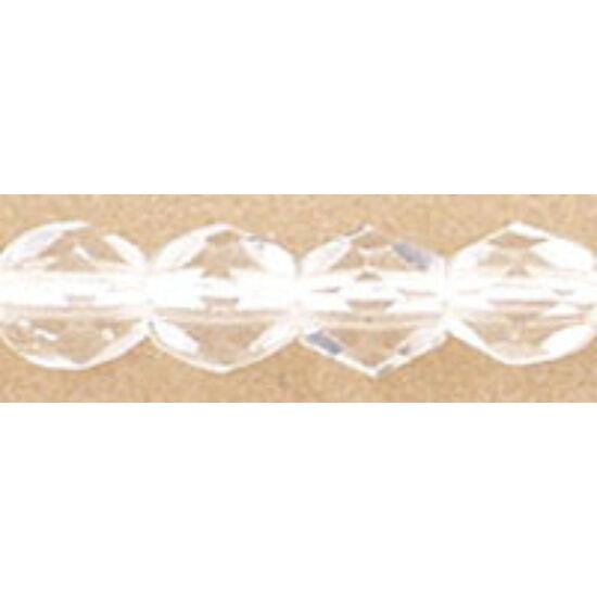 Csiszolt gyöngy- 4mm - Crystal- 00030