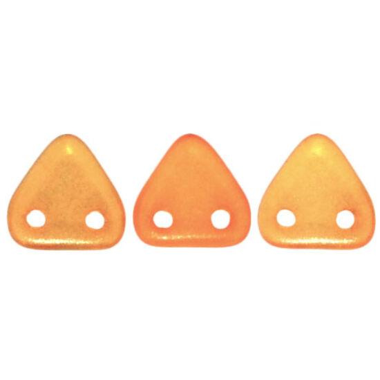 6mm Halo Szantálfa színű, kétlyukú Triangle- háromszög gyöngy
