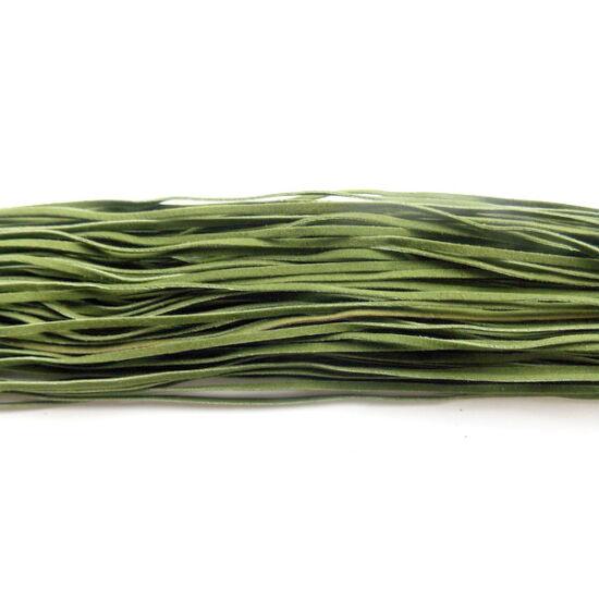 Zöld színű hasított bőrszál