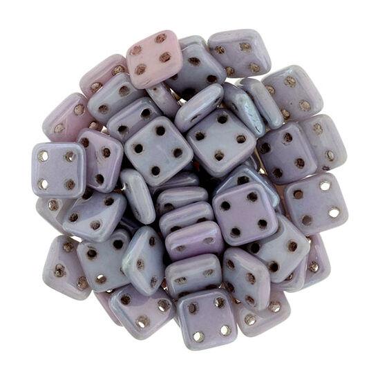 6x6mm Luszetres Metál Ametiszt színű Quadra Tile gyöngy