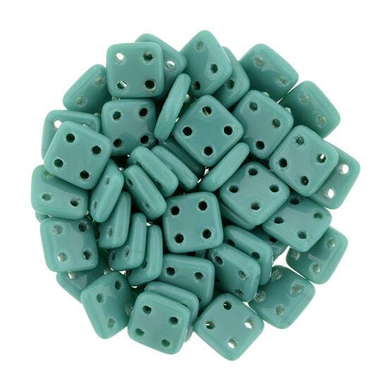 6x6mm Perzsa Türkiz színű Quadra Tile gyöngy