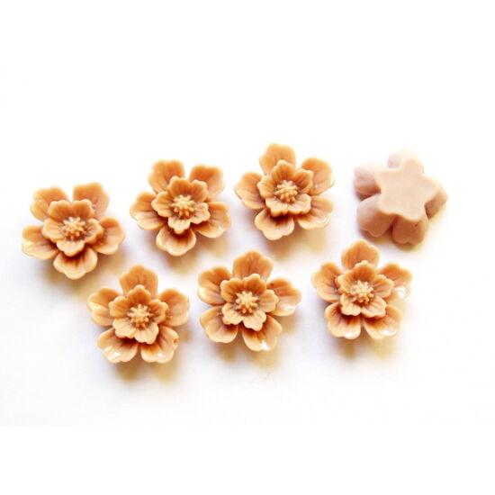 Nude színű, ragasztható gyanta virág