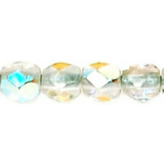 Csiszolt gyöngy - 3mm - Crystal AB - X00030