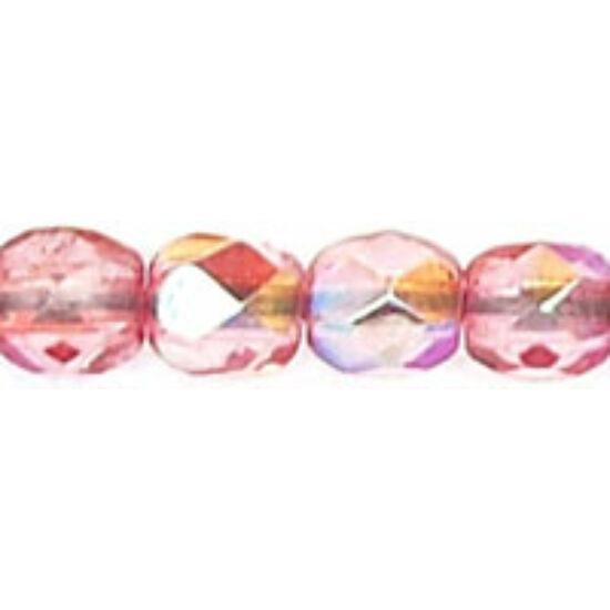 3mm-es Coated - Milky Pink AB- Cseh csiszolt gyöngy