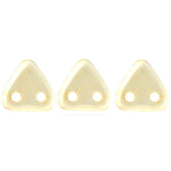 6mm Lüszteres Áttetsző Pezsgő színű, kétlyukú Triangle-háromszög gyöngy
