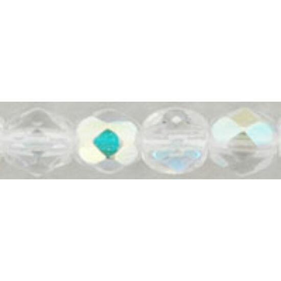Csiszolt gyöngy - 4mm - Crystal AB