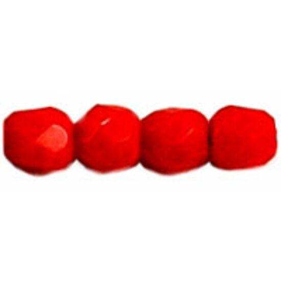 Cseh csiszolt gyöngy-  Opaque - Lt. Red- 3mm