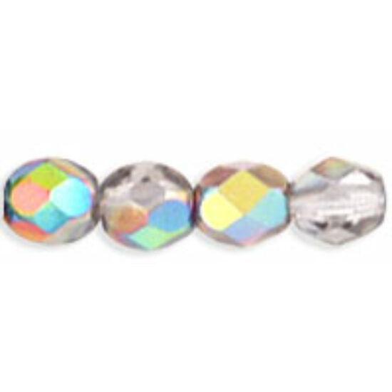 Csiszolt gyöngy - 3mm - Crystal - Vitral - V00030