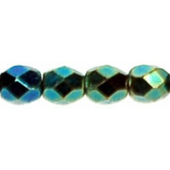 3mm-es Irizáló Zöld, Cseh csiszolt gyöngy