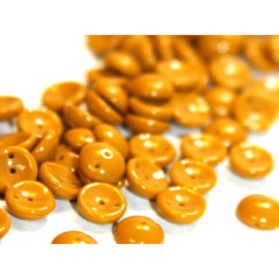 4x8mm Sötét Mustár-sárga színű, Piggy gyöngy