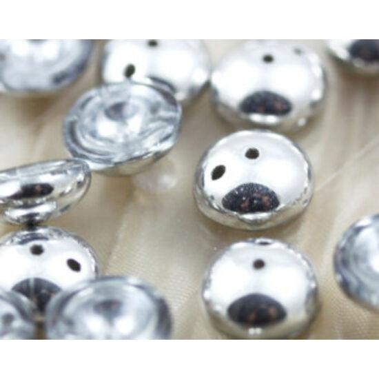4x8mm Kristály Ezüst színű, Piggy gyöngy