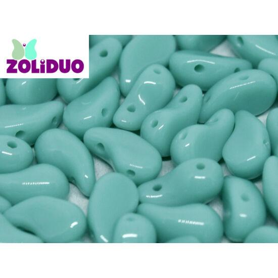 ZOLiDUO- Cseh préselt 2lyukú gyöngy - Jade - 5x8mm - Bal