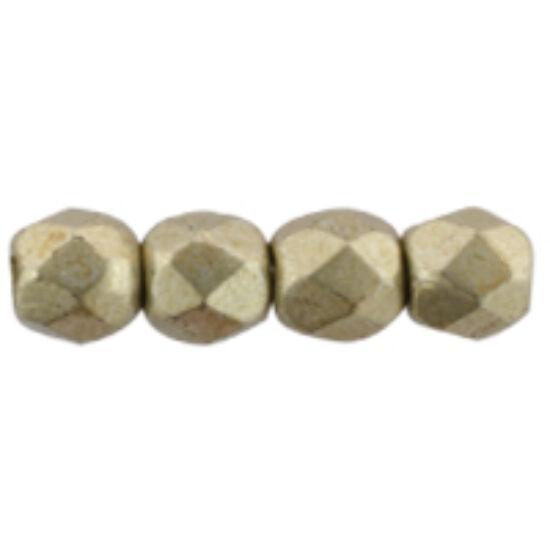 Csiszolt gyöngy - 2mm - Sueded Gold Cloud Dream - 08A05