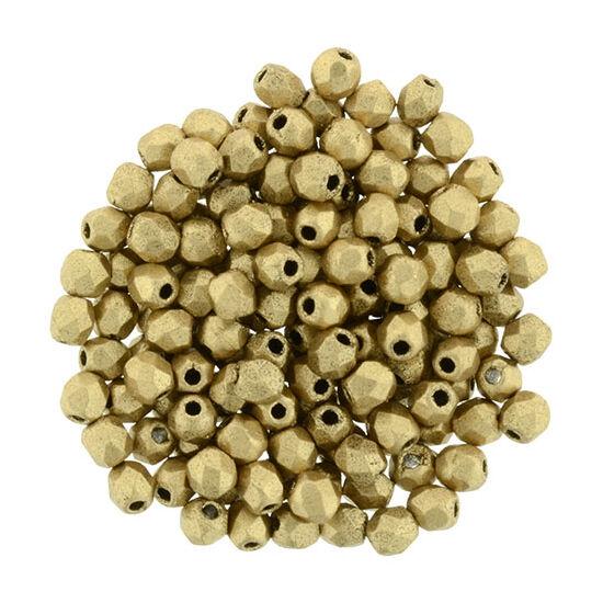 Csiszolt gyöngy - 2mm - Matte - Metallic Flax