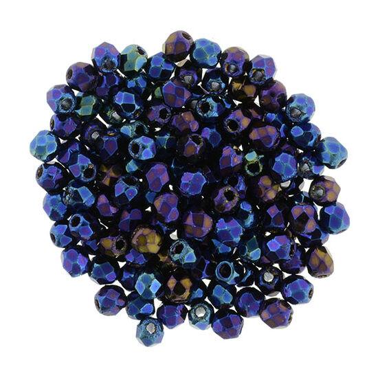 Csiszolt gyöngy - 2mm - Iris - Blue