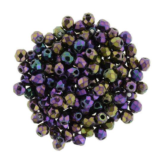 Csiszolt gyöngy - 2mm - Iris - Purple