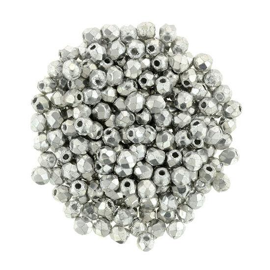 Csiszolt gyöngy - 2mm - Silver