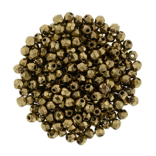 Csiszolt gyöngy - 2mm - Bronze