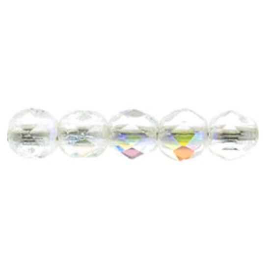 Csiszolt gyöngy - 2mm - Crystal AB - X00030