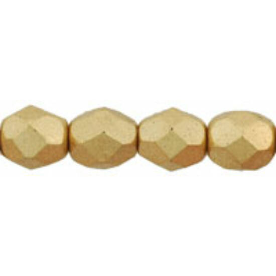 Csiszolt gyöngy - 2mm - Matte - Metallic Flax - K0171JT