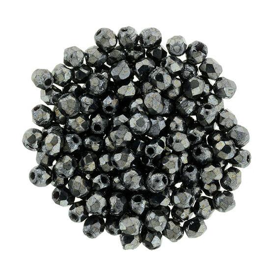 Csiszolt gyöngy - 2mm - Hematite