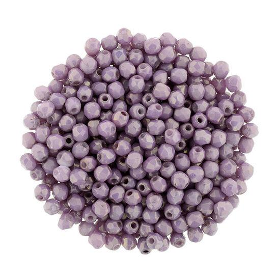 2mm - Luster - Opaque Lilac- Cseh csiszolt gyöngy