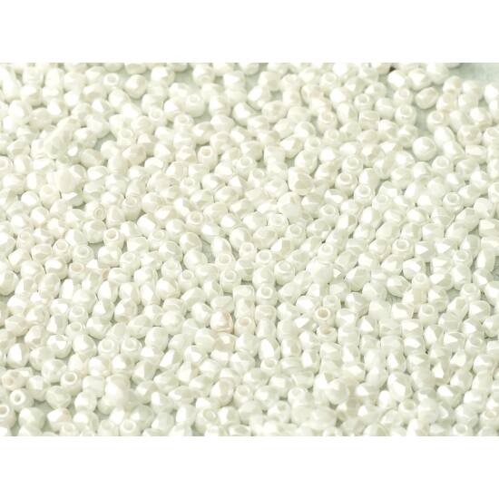 Csiszolt gyöngy - 2mm - ALABASTER PASTEL WHITE
