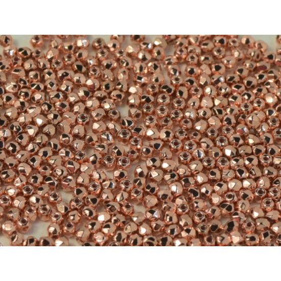 Csiszolt gyöngy - 2mm - Crystal Copper Plated - 39000