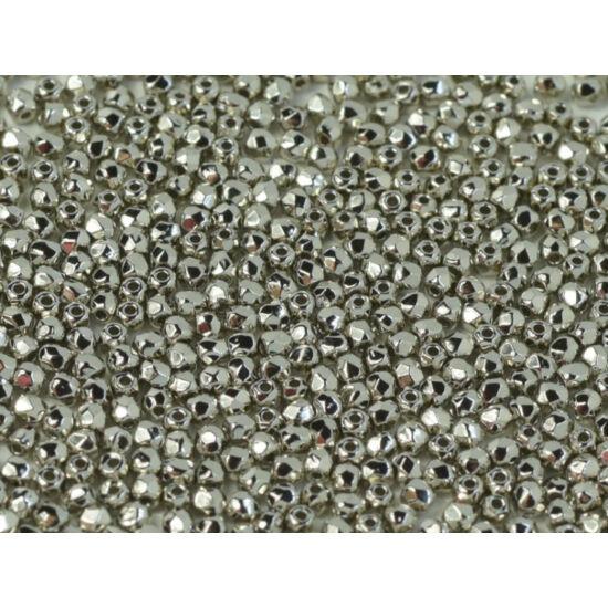 Csiszolt gyöngy - 2mm -Crystal Nickel Plated - 37000