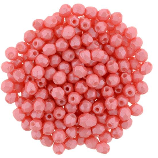 Csiszolt gyöngy- 3mm- Pearl Shine - Rose