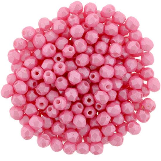 Csiszolt gyöngy- 3mm- Pearl Shine - Pink