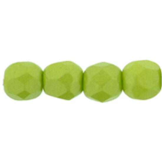 Csiszolt gyöngy - 3mm - Powdery - Lime - 29375AL