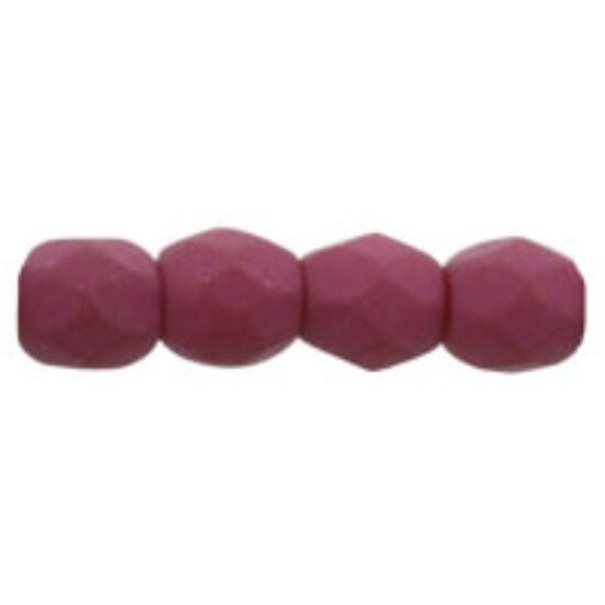 Cseh csiszolt golyó-  Opaque Purple AB- 3mm