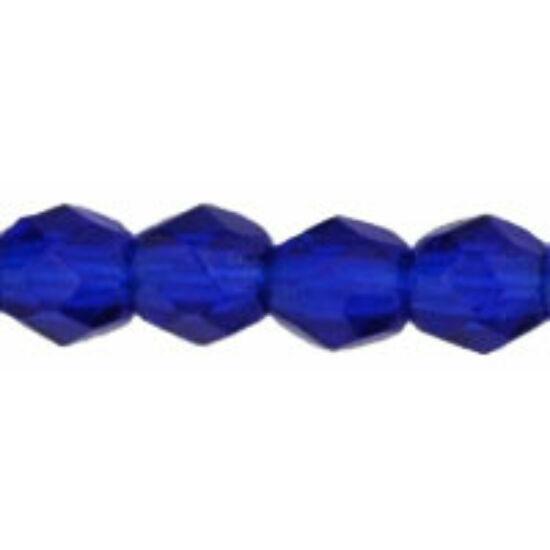 Cseh Csiszolt - 3mm - Cobalt - 30090