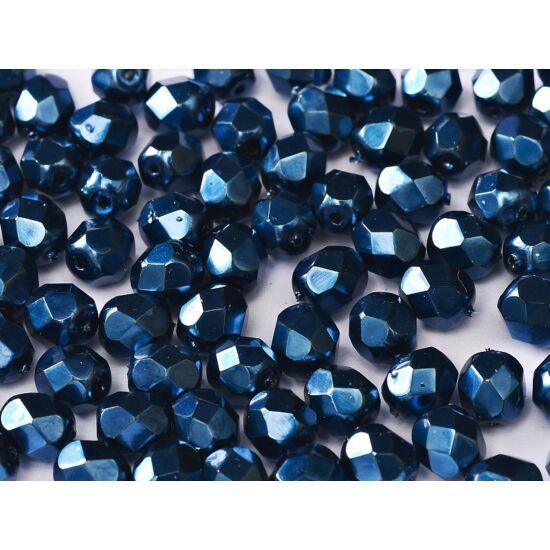 3mm JET HEAVY METAL NAVY BLUE, Cseh csiszolt gyöngy