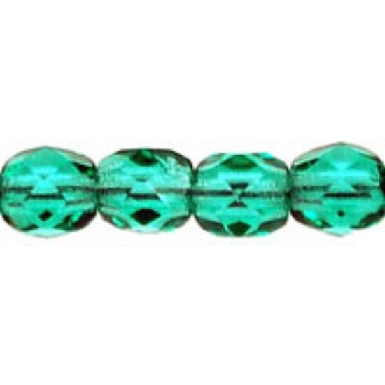 3mm Emerald- Cseh csiszolt gyöngy