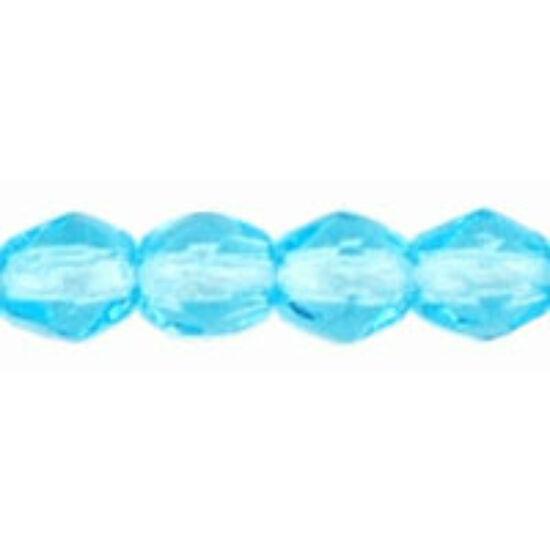 Csiszolt gyöngy- 3mm- Aquamarine
