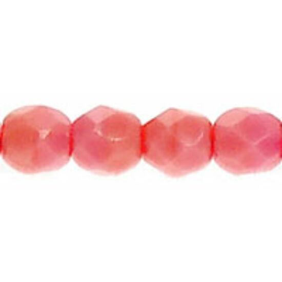 Cseh csiszolt golyó- Carnation Pink- 3mm