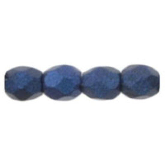 Cseh Csiszolt - 3mm  - Metallic Suede - Blue - 79031MJT