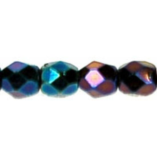 Cseh Csiszolt Gyöngy - 3 mm - Iris - Blue - 21435