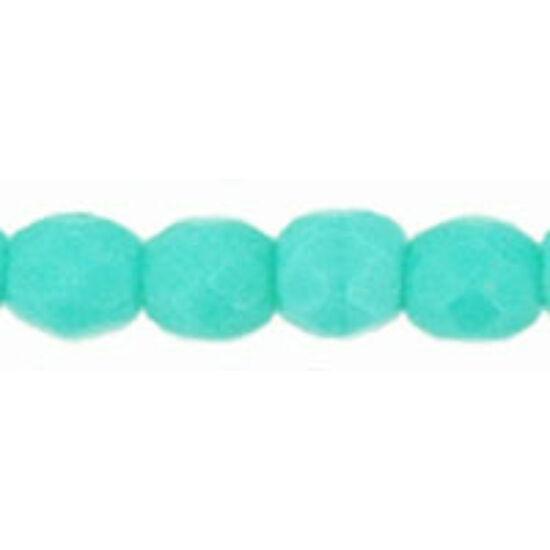 3 mm-es Telt Türkiz színű, cseh csiszolt gyöngy