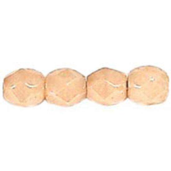 Csiszolt gyöngy - 3mm - Luster - Opaque Champagne