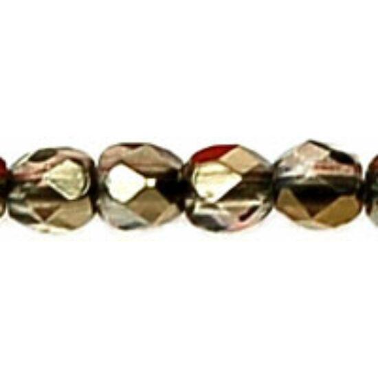 Cseh Csiszolt Gyöngy - 3 mm - Bronze Iris - Black Diamond - ZR40010