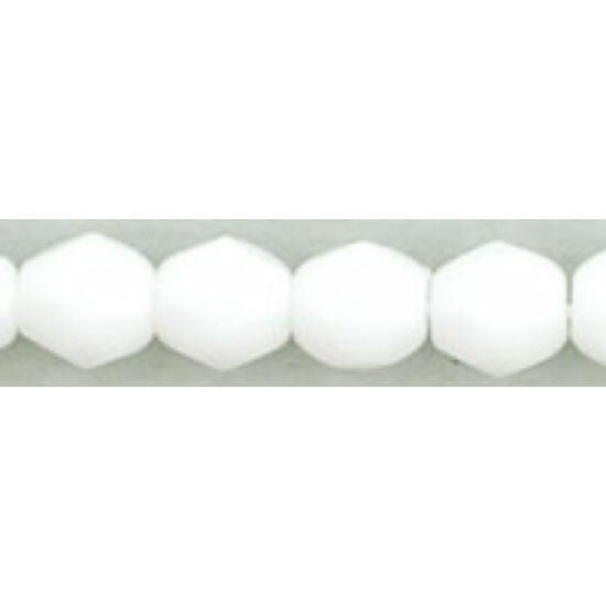 Cseh Csiszolt - 4mm - White - 03000