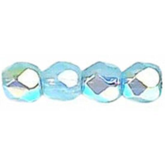 3mm-es Milky Aquamarine AB- Cseh csiszolt gyöngy
