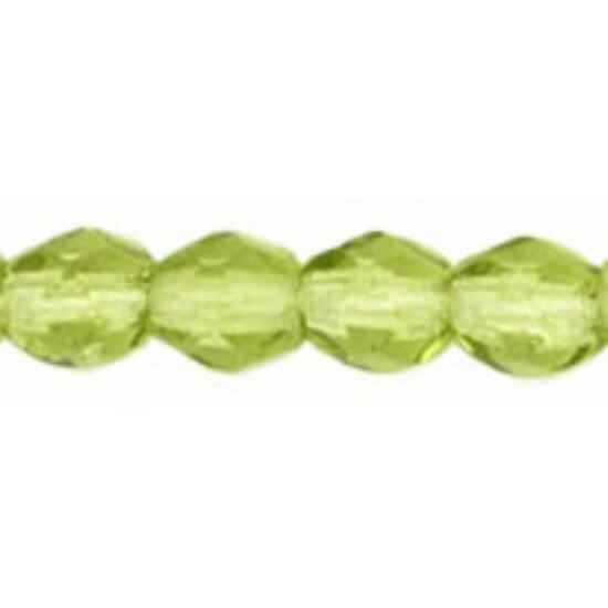 Csiszolt gyöngy - 3mm -  Olivine - 50230