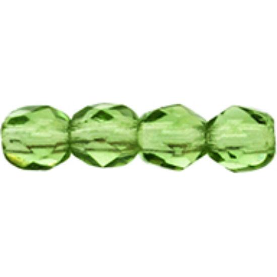 Csiszolt gyöngy - 3mm - Prairie Green - 50310