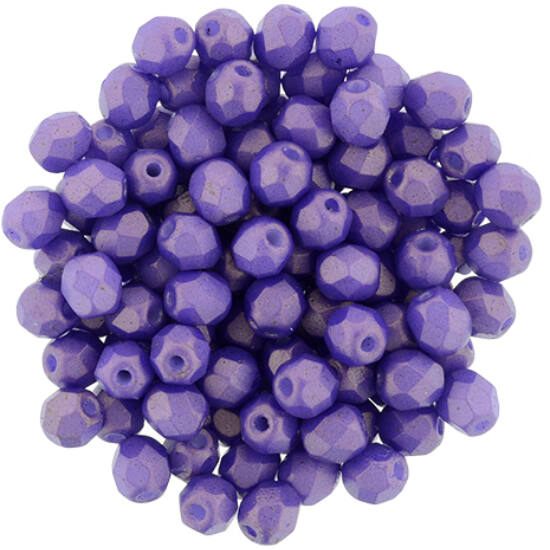 Csiszolt gyöngy- 4mm- Gold Shine - Purple