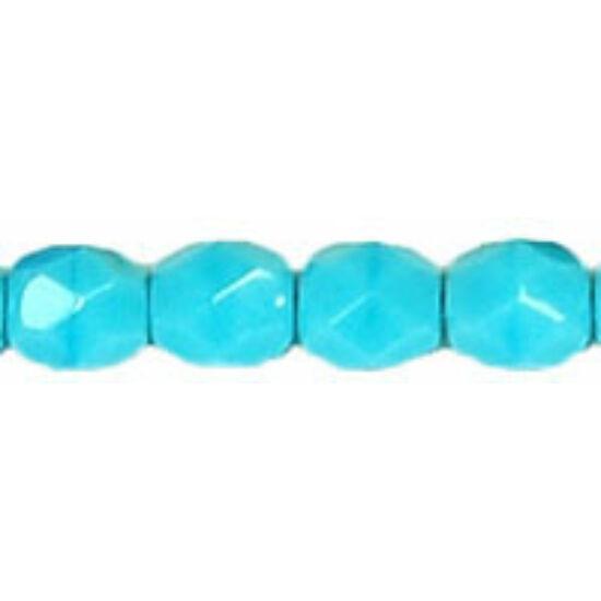 4mm Blue Turquoise- Cseh csiszolt gyöngy