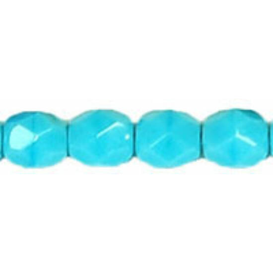 Csiszolt gyöngy - 4mm - Blue Turquoise - 63030